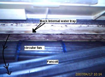 picture of the internal water passage way of a daikin aircon