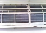 aircon cover lifted up